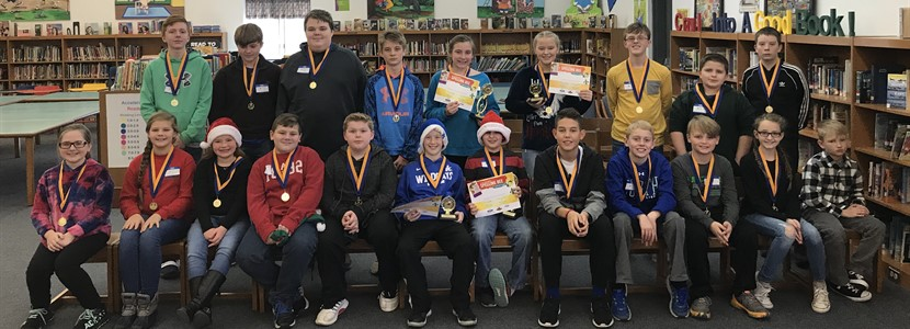 East Bernstadt Elementary and Middle School Spelling Bee Participants and Winners!