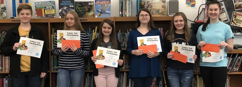 2019 East Bernstadt 8th Grade Individual Science Fair Winners