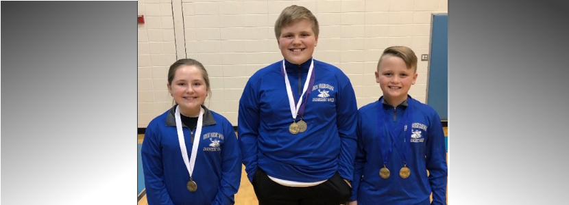 Elementary Academic Team Governor's Cup- Written Assessment Winners:  Kara Smallwood (3rd Place Math), Clay Mullins (3rd place Science & 4th place Soc. St.) & Tanner Houchens (1st place Lang. Arts & Soc. St.).  Good luck in Regionals!!