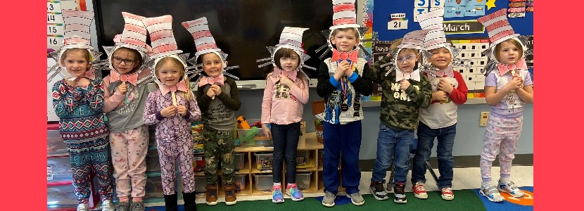 Mrs. Shepherd's Preschool Class celebrates Read Across America week!