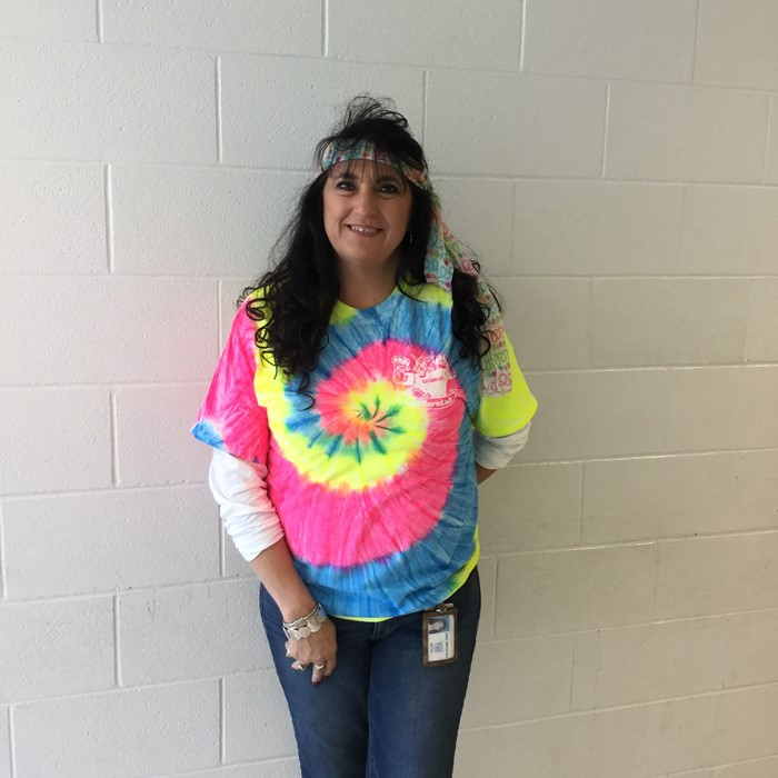 EBS dressed like the 70s for the 70th day of school!