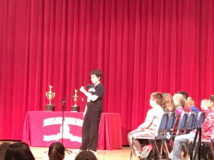 3 East Bernstadt students parcipated in the Laurel County Spelling Bee...Charis Davidson, Joe Clay Durham, and Jaman Smith.  Jaman Smith in the 2017 Laurel County Spelling Bee Winner!!