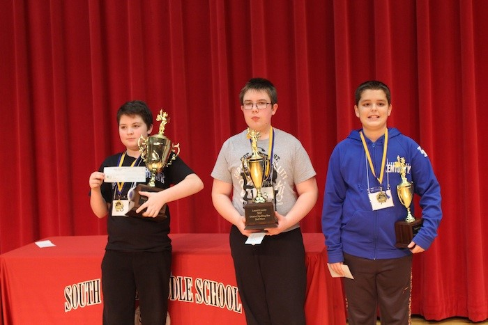 Top 3 spellers at the Laurel County Spelling Bee