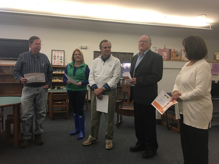 A reception was held to recognize Gene Allen for his 50 years of service to the East Bernstadt Independent Board of Education.