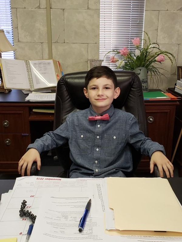 Students are Superintendent, Principal, Secretary, & Librarian for a day