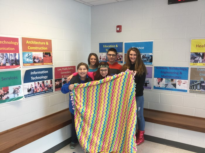 Community Outreach worked with the GT and Student Leadership Council project and made blankets for residents at Laurel Heights.