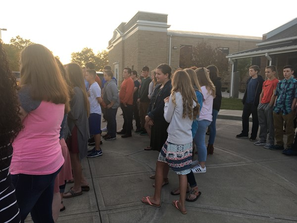 Students met for Prayer at the Pole.