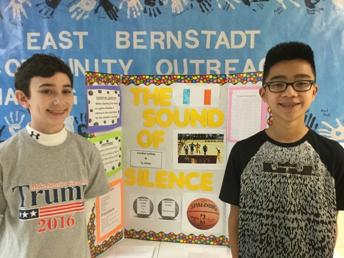 8th grade Science Fair- Friday, January 20, 2017