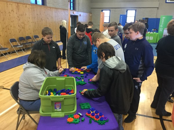 STEAM education (science, technology, engineering, art and math) exposes students to high-tech fields of study. Each students was able to visit various stations exploring engineering concepts, 3D printing,  programmable humanoid robots, and science concepts such as Newton's Third Law of Motion.
