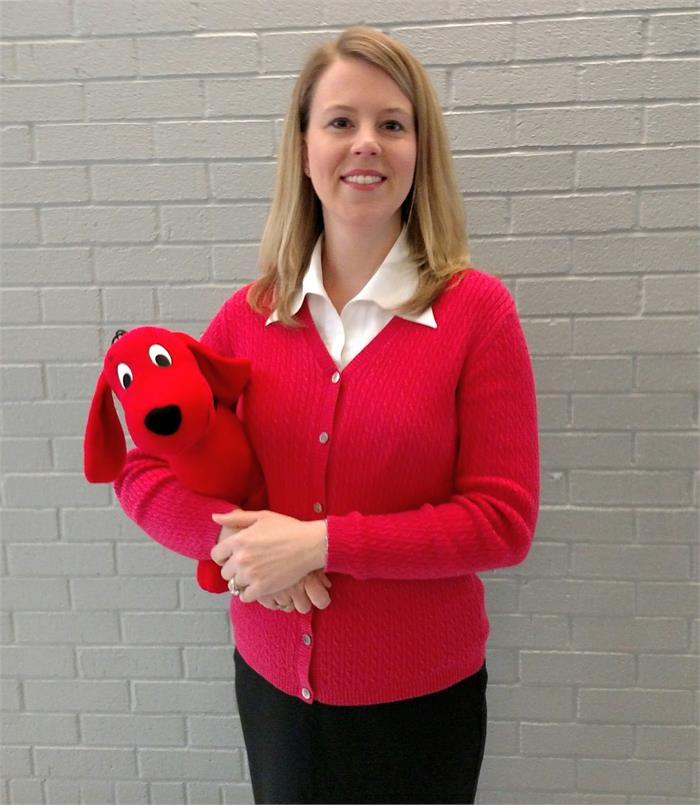 Mrs. Stokes dressed up as one of her favorite story book characters--do you know who it is?!!