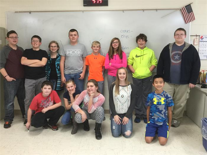 2015-2016 East Bernstadt Middle School Academic Team