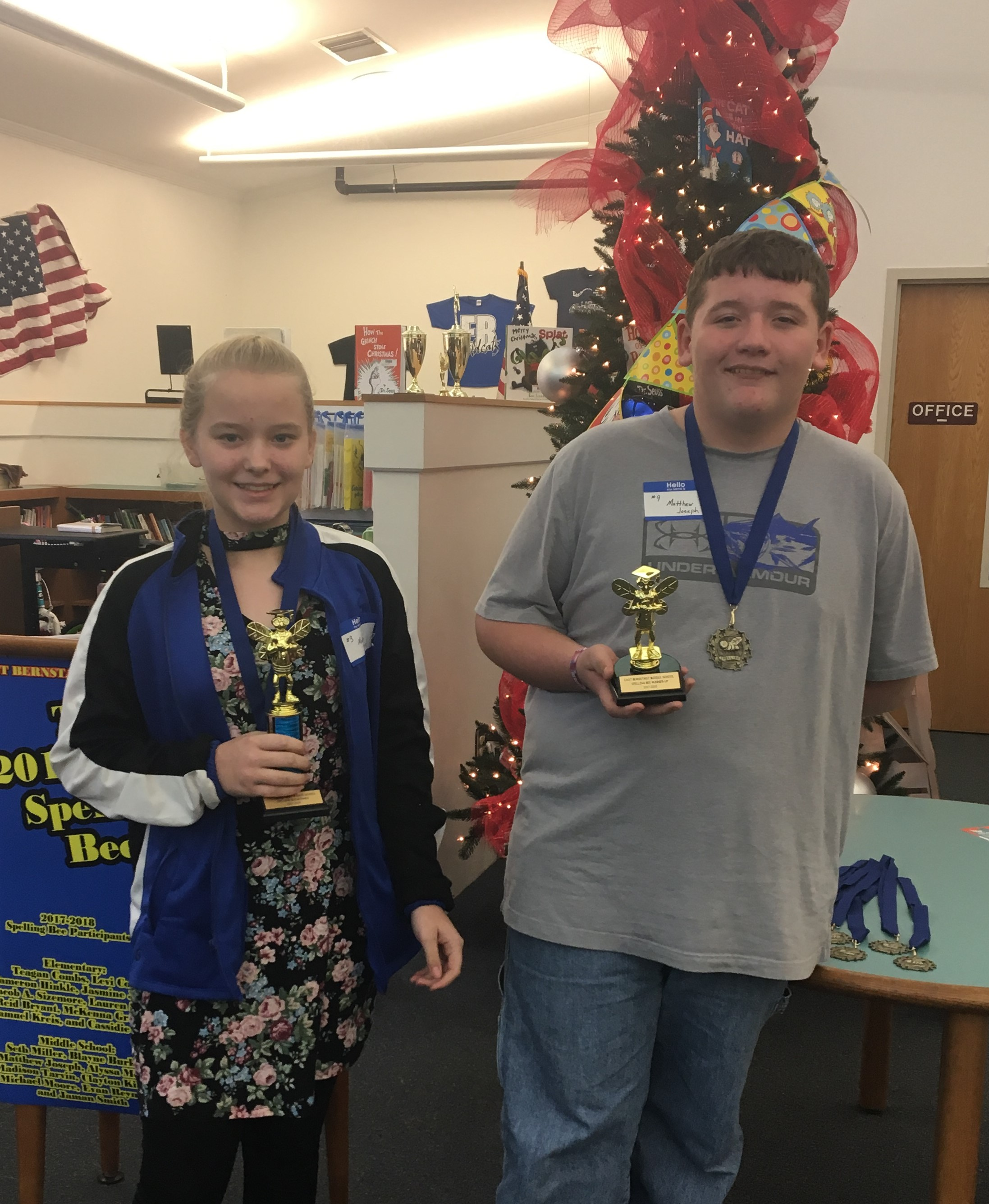 Middle School Spelling Bee Winners