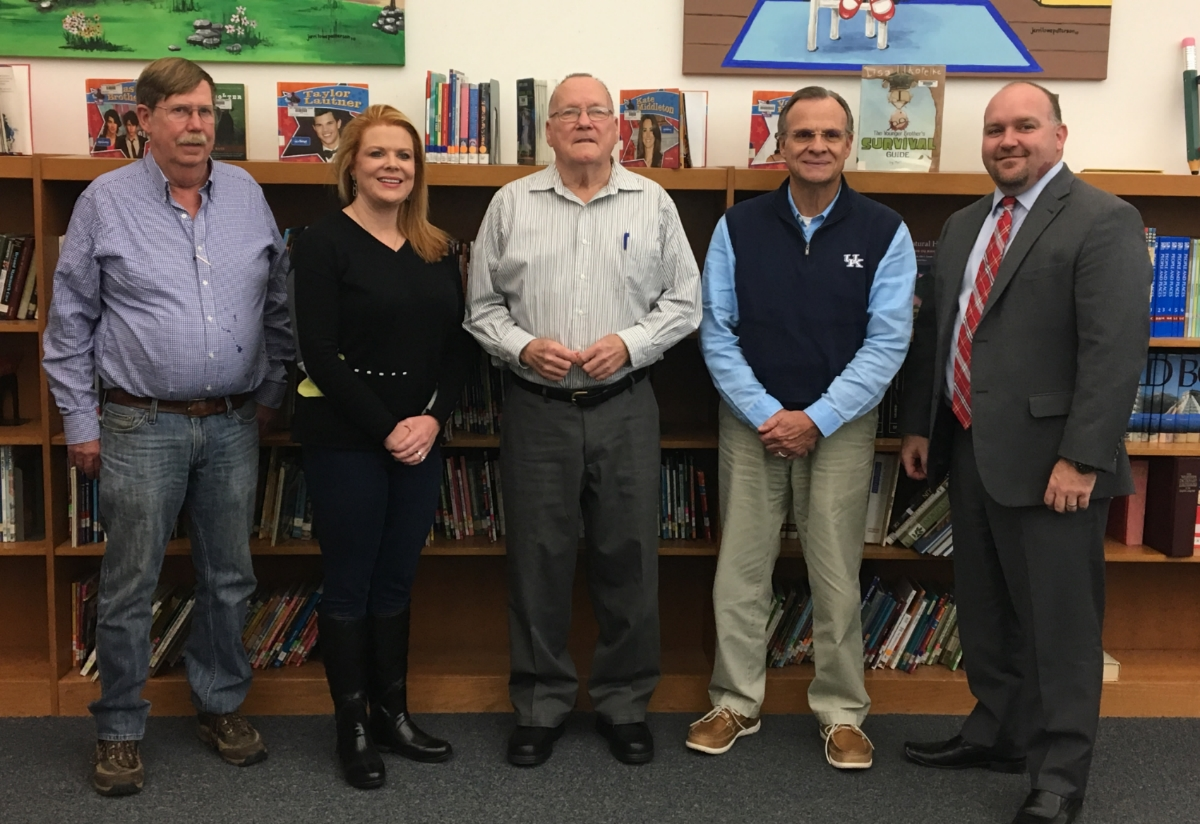 EBIS School Board members: Tom Caudel, Mequeil Storm, Gene Allen, Jim Sutton, Lucas Joyner