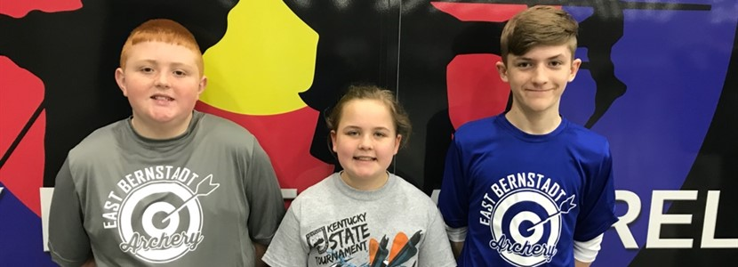 Eli Holt, Kylie Napier, and Evan Reynolds attended the Kentucky State Archery Tournament in Louisville, KY