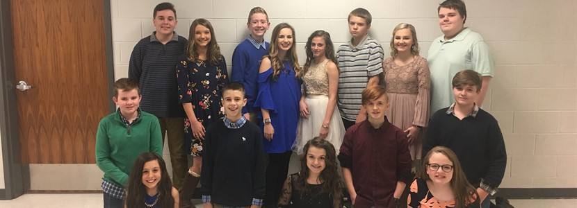 2018 East Bernstadt Middle School Homecoming Court