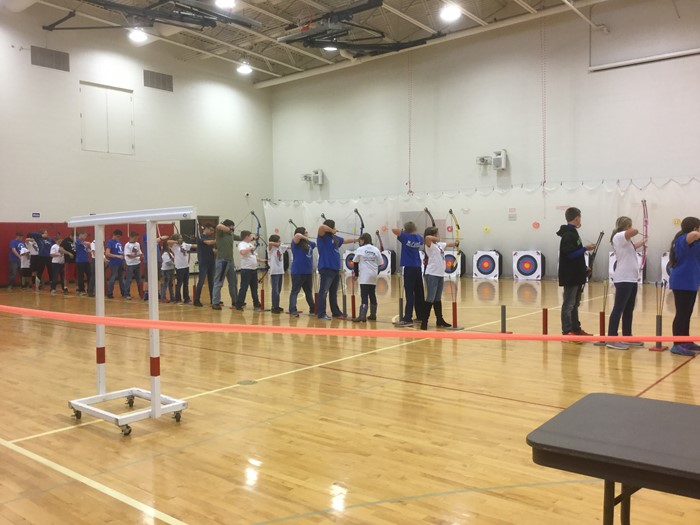 East Bernstadt Middle School Archery team at Corbin Middle School on November 4th.  East Bernstadt placed 4th of 10 teams participating.