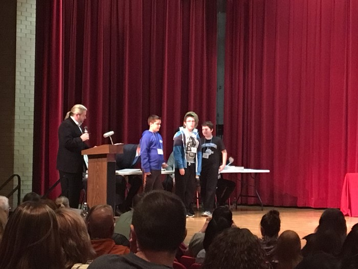 3 East Bernstadt students parcipated in the Laurel County Spelling Bee...Charis Davidson, Joe Clay Durham, and Jaman Smith.