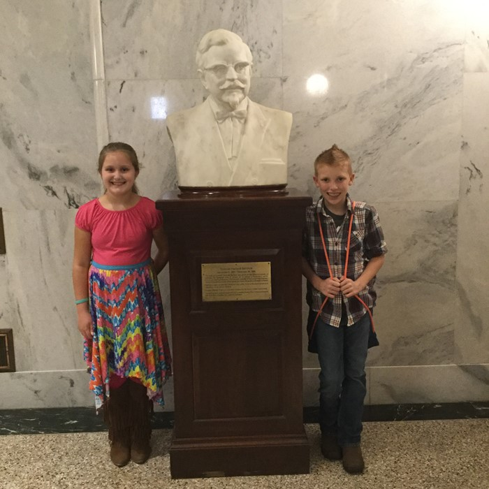Mrs. VanHook and Mrs. Jervis' 5th grade classes went on a fieldtrip to Kentucky's State Capitol in Frankfort on November 17, 2016. There they visited the Old Capitol building, the Kentucky History Museum, and the New Capitol. The students were able to not only see and touch real live artifacts from Kentucky's History but were able to participate in reenactments of events in our legislative branch of government. The fieldtrip was not only enjoyable but extremely educational.