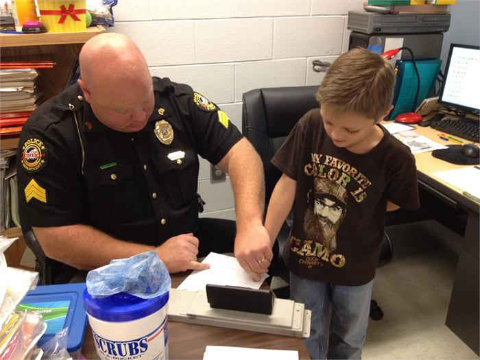Officer Hurley's Visit to 2nd Grade